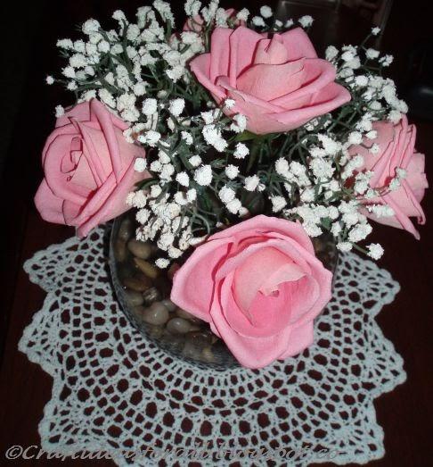 Paper Flower Arrangement Ideas: Craft Ideas For All: Paper Flower Arrangement