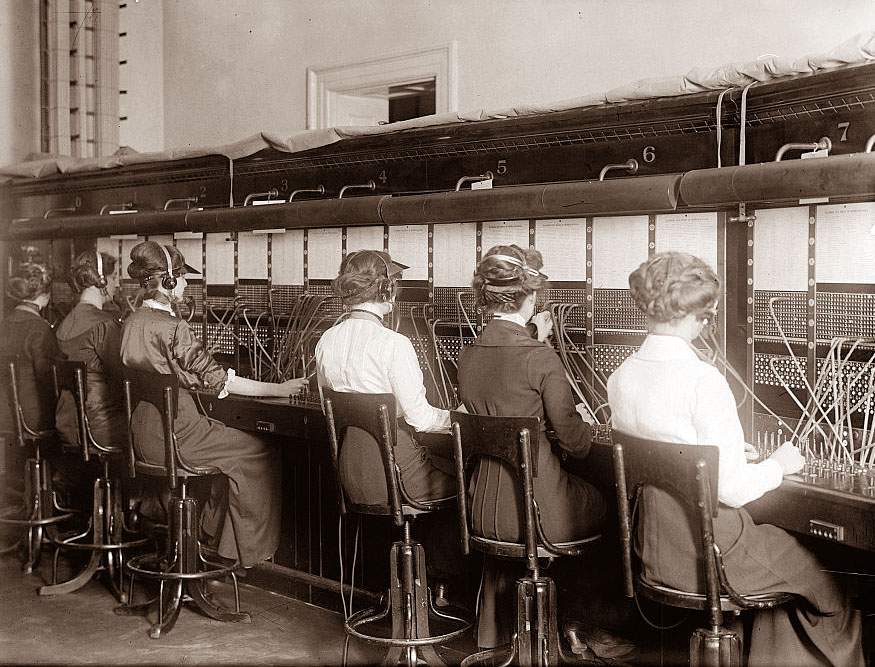 مكتب تبديل Exchange Office في عام 1915