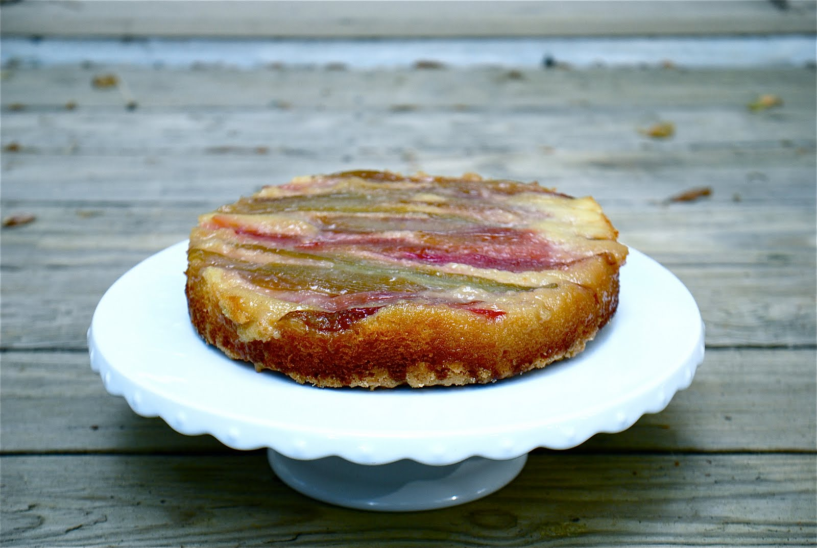 Blue Ridge Baker Rhubarb Upside Down Cake For My Dads Birthday