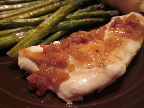 What's for Dinner?: Chicken with Cider and Bacon Sauce