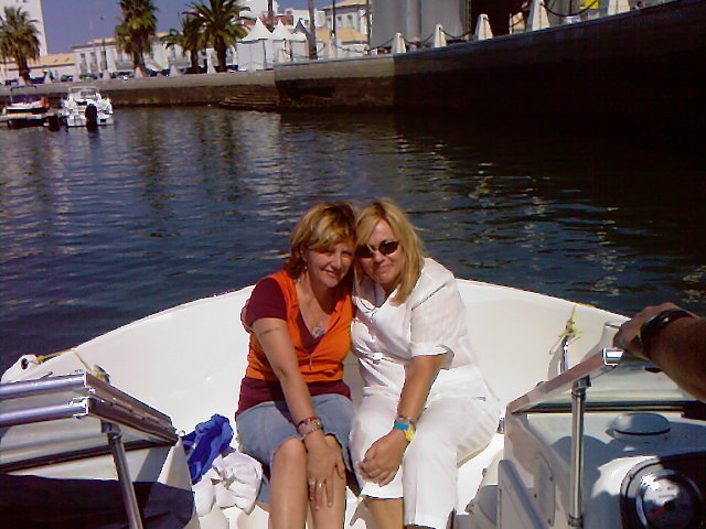 Con mi querida amiga Elena en Faro.