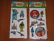 "ANTIGUOS STICKERS ACOLCHONADITOS DE ""BUCK ROGERS""."
