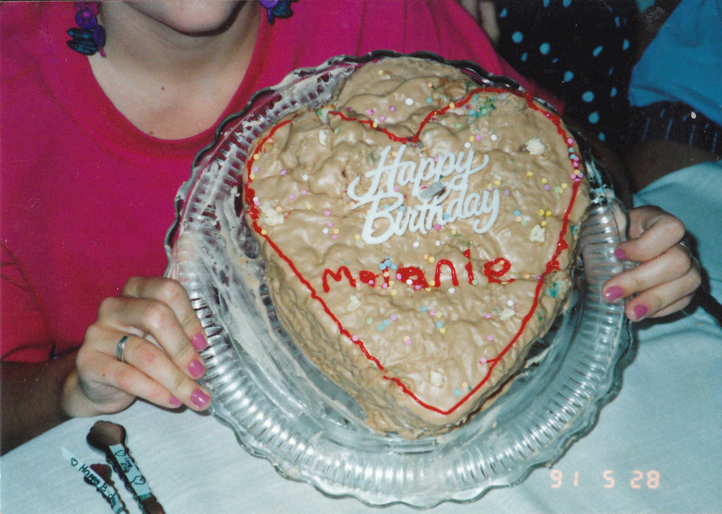 Birthday Cake That A Sweet 17 Year Old Boy Made Me Many Years Ago And An Adorable Candy Poster He Was One Talented Guy