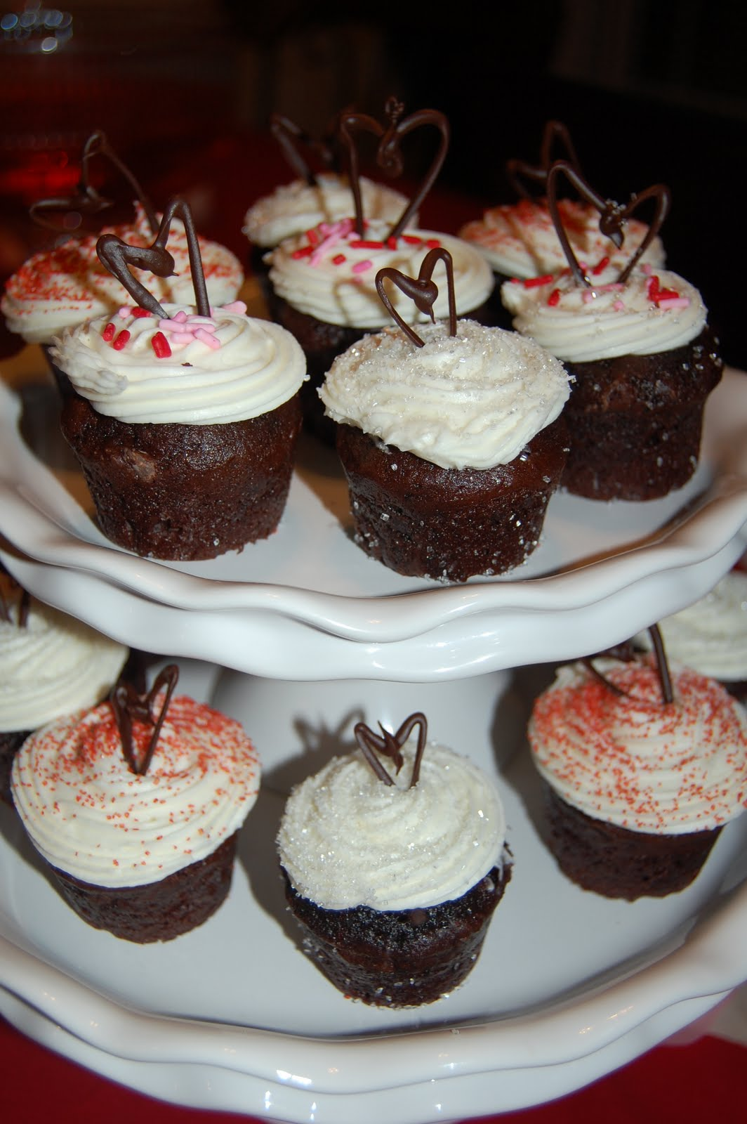 Brownie Bites with White Chococlate Frosting-and Decorative Chocolate ...