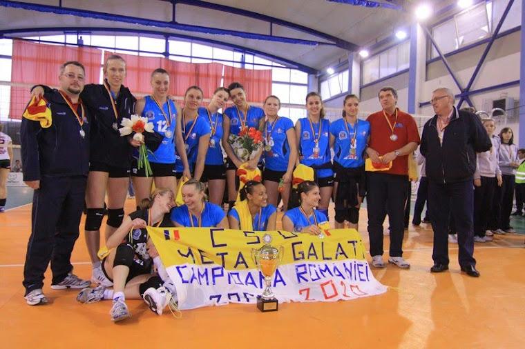 CSU METAL GALATI, CAMPIOANA ROMANIEI 2009/10