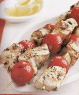 Chinese Chicken/Turkey Skewers with Cherry Tomatoes