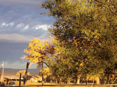 Autumn and Black Mesa Over the Back Fence