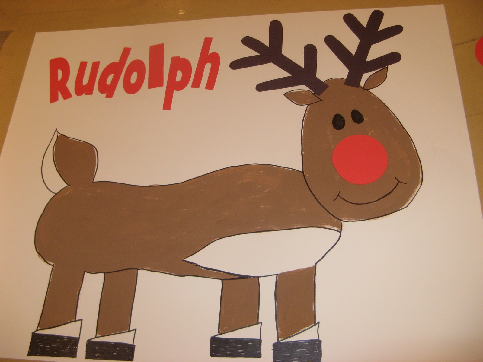 Pin The Nose On Rudolph To put on a blind-fold.