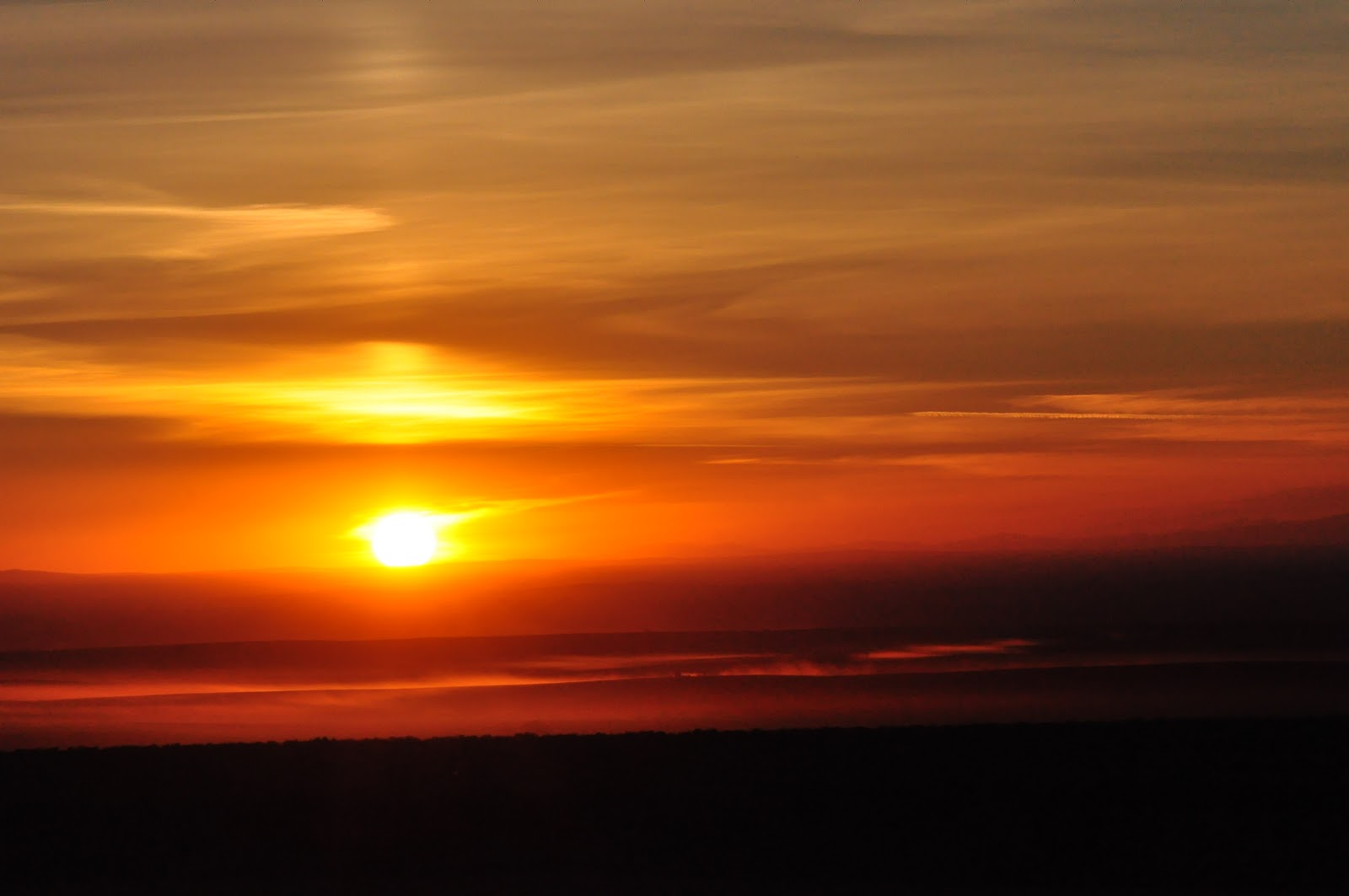 description of a sunset