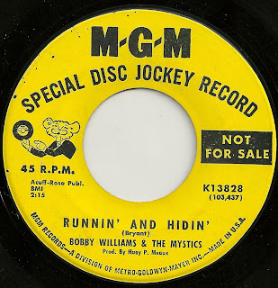 Cover Album of Bobby Williams And The Mystics - Runnin' And Hidin'