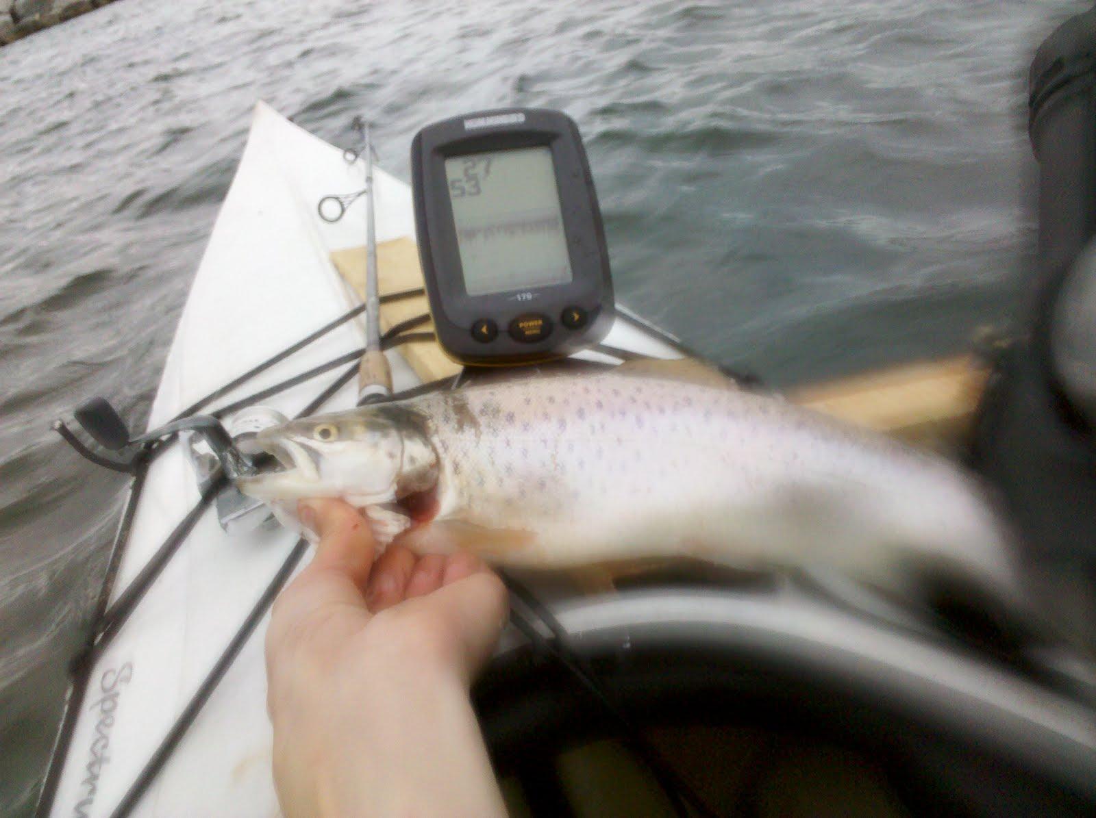 Great lakes angler lake michigan kayak fishing report for Racine harbor fishing report