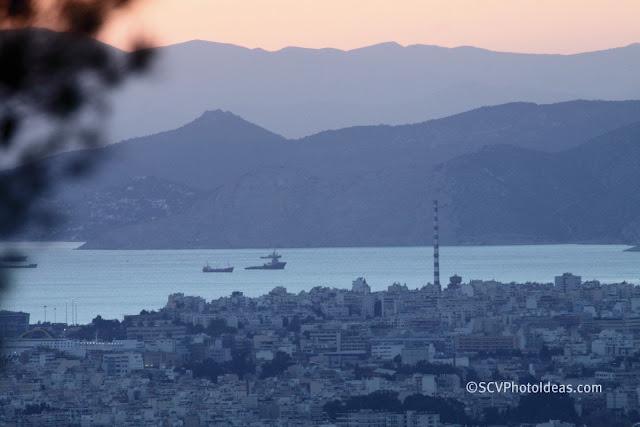 Twilight over Athens - Saronikos bay - Keratsini