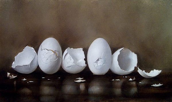 """Clinton T. Hobart's """"Painting Actually"""": """"Cracked Eggs II"""""""