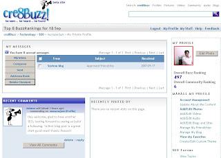 My profile in cre8buzz
