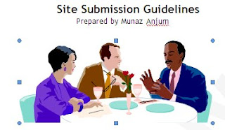 Search engine submission guidelines