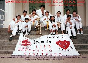 PRIMER NACIONAL GANADO 2002 (COMPITIERON LOS (DOS DOJOS DE CARHUE JUNTOS)