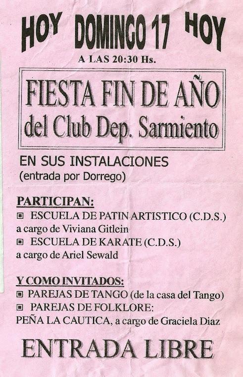 FIESTA FIN DE CICLO DEL CLUB DEROPTIVO SARMIERTO - 17/12/2000