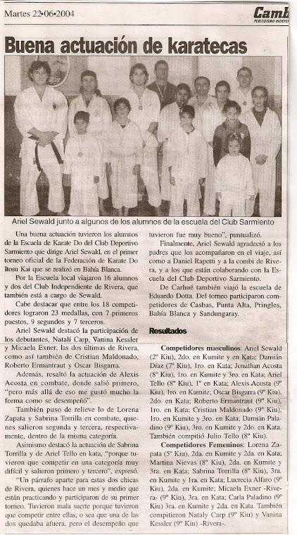 TORNEO KARATE ITOSU KAI - BAHI BLANCA 13/06/2004