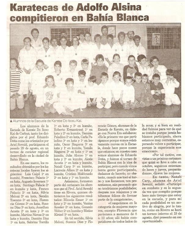 TORNEO DE KARATE DO ITOSU KAI - BAHIA BLANCA 29/08/2004