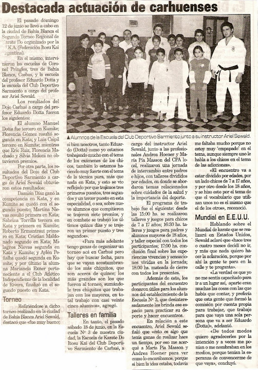 TORNEO REGIONAL DE KARATE DO ITOSU KAI - BAHIA BLANCA 16-06-05