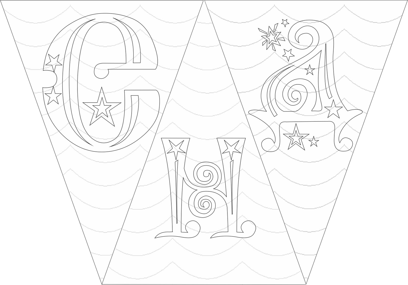 Растяжка с днем рождения своими руками шаблоны букв 75