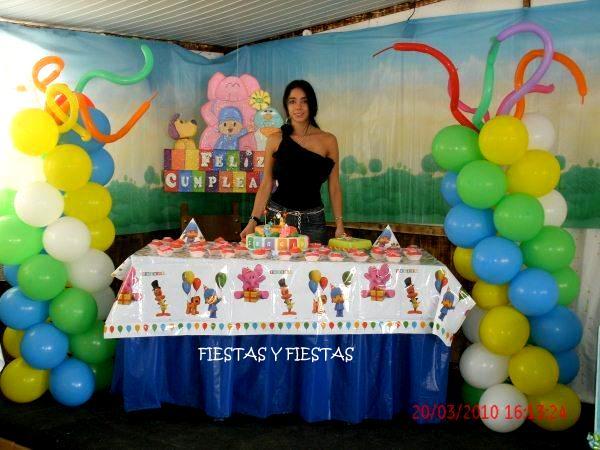 Decoración para Fiestas en Icopor ó Poliespan: Pocoyo