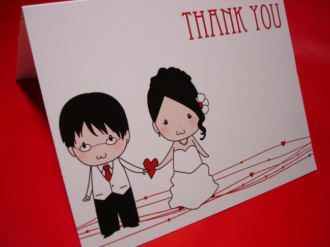 anime wedding thank you card
