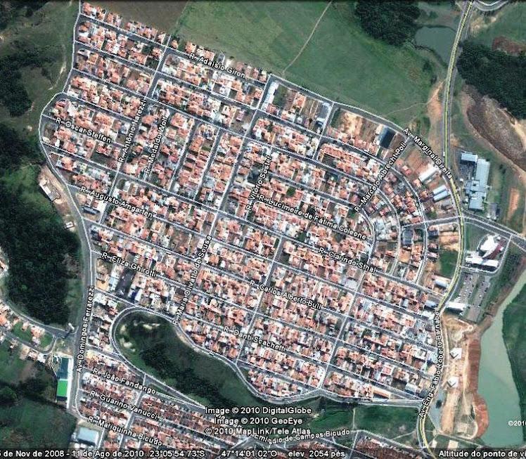 Vista aérea -Jdim Regina e Monte Verde