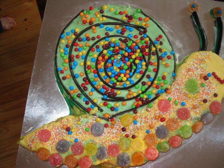 Caths Space In Time Ardens Snail Birthday Cake