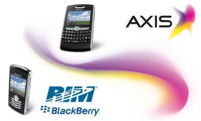 Data peningkatan pengguna Axis Blackberry. Target penambahan pelanggan Axis Blackberry.