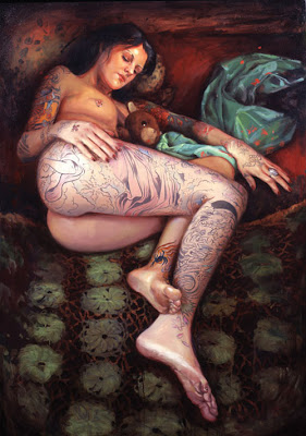 Amazing Tattooed Water Painting Portrait Pictures