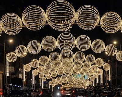 Cities Decorated With Lights Christmas Celebrations