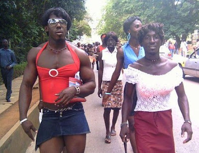 African Gay Community Weird people, in Africa held a very strange parade, ...