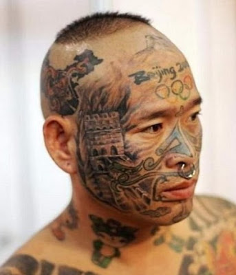 Weird Face Tattoos