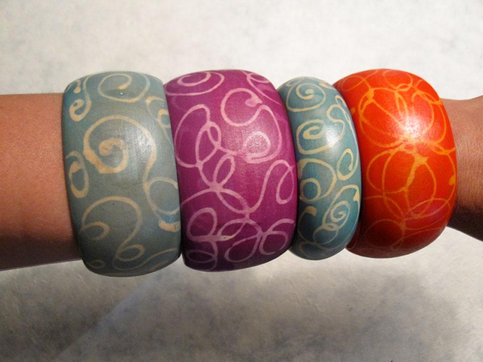 Wood Bangles Cuffs Bracelets Wooden Bangles Crafts