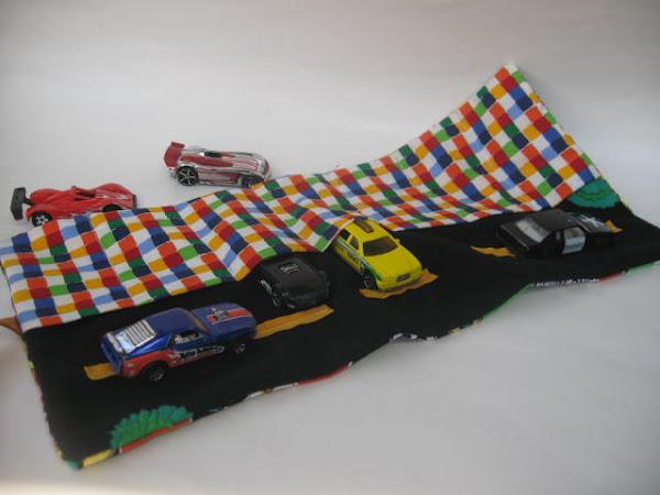 Little cars on the go organizer / holder