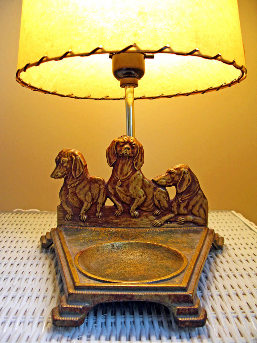 The long and short of it all a dachshund dog news magazine dachshund collector 39 s corner you - Dachshund lamp ...