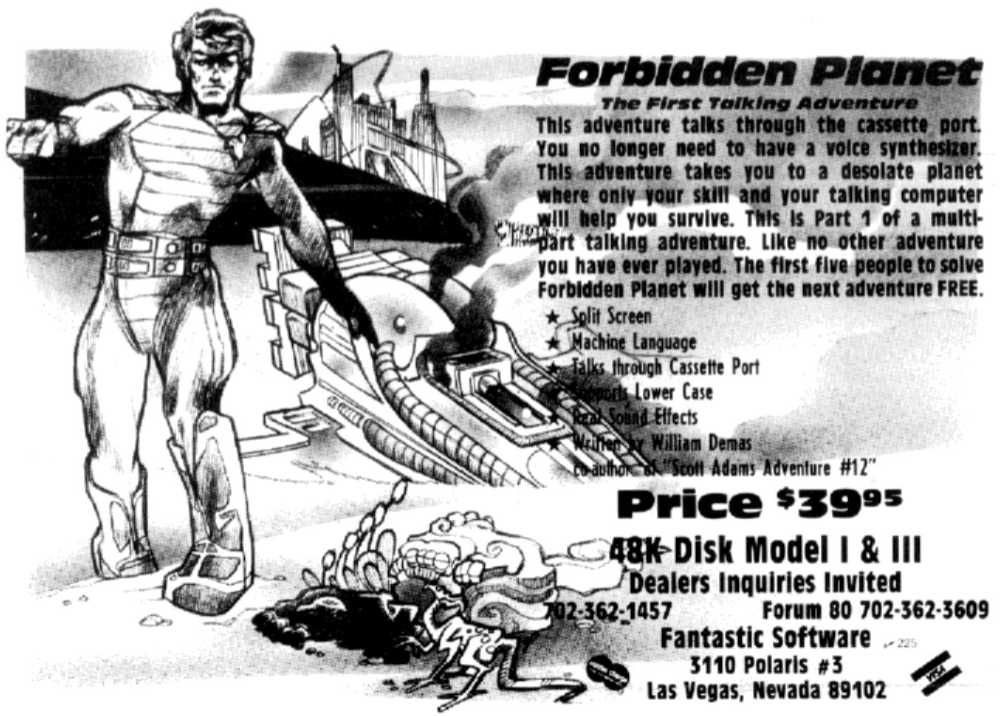 forbidden planet ad Here's a vintage ad, from the December 1981 issue of 80 Micro magazine, ...