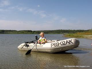 Озеро Красилово, Ребенок на рыбалке