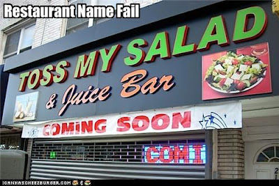 bad restaurant names toss my salad