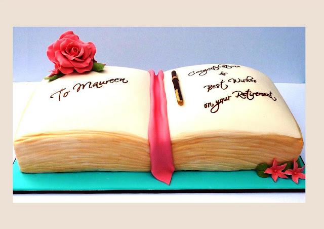 Cake Designs Book : Vanilla Lily Cake Design: Book Cake