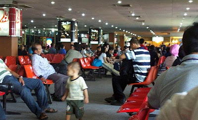 Waiting lounge Sultan Syarif Kasim Air Port  - Mudik Riau Part II