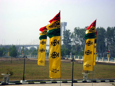 Flags near Siak Bridge