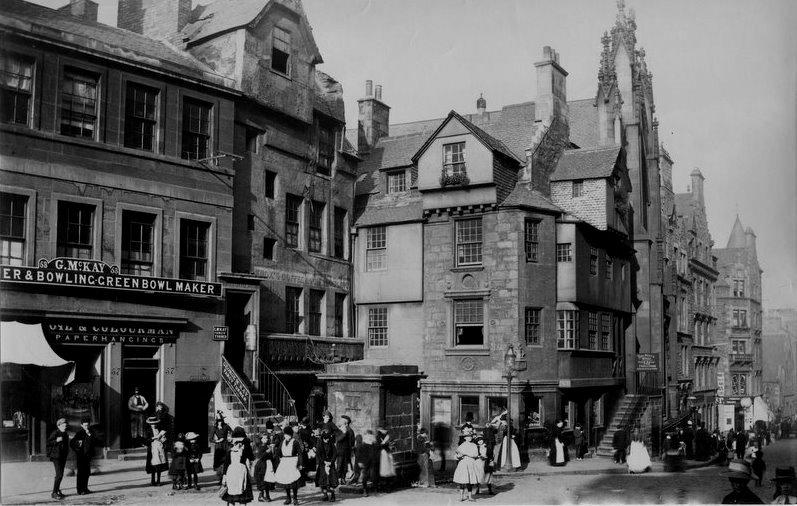 Tour scotland photographs old photographs john knox 39 s for Classic house edinburgh