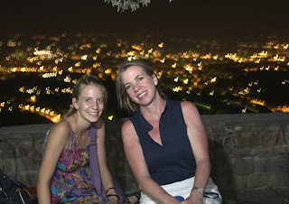 Delaney and Gina above Florence, Italy