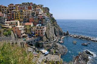 One of the five towns in Cinque Terre, Manarola, Italy