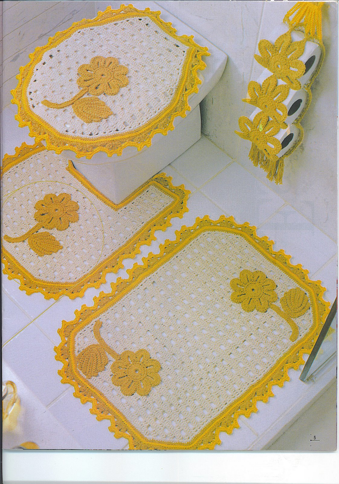Kit Para Banheiro Artesanato ~ Ivone Artesanato JOGO DE BANHEIRO EM CROCH u00ca
