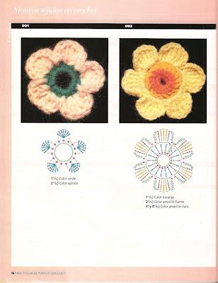 Crochetando Muitas Flores E Folhas Em Croche Com Gráficos