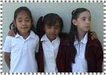 Karol, Lesli y Cristina de 1º B
