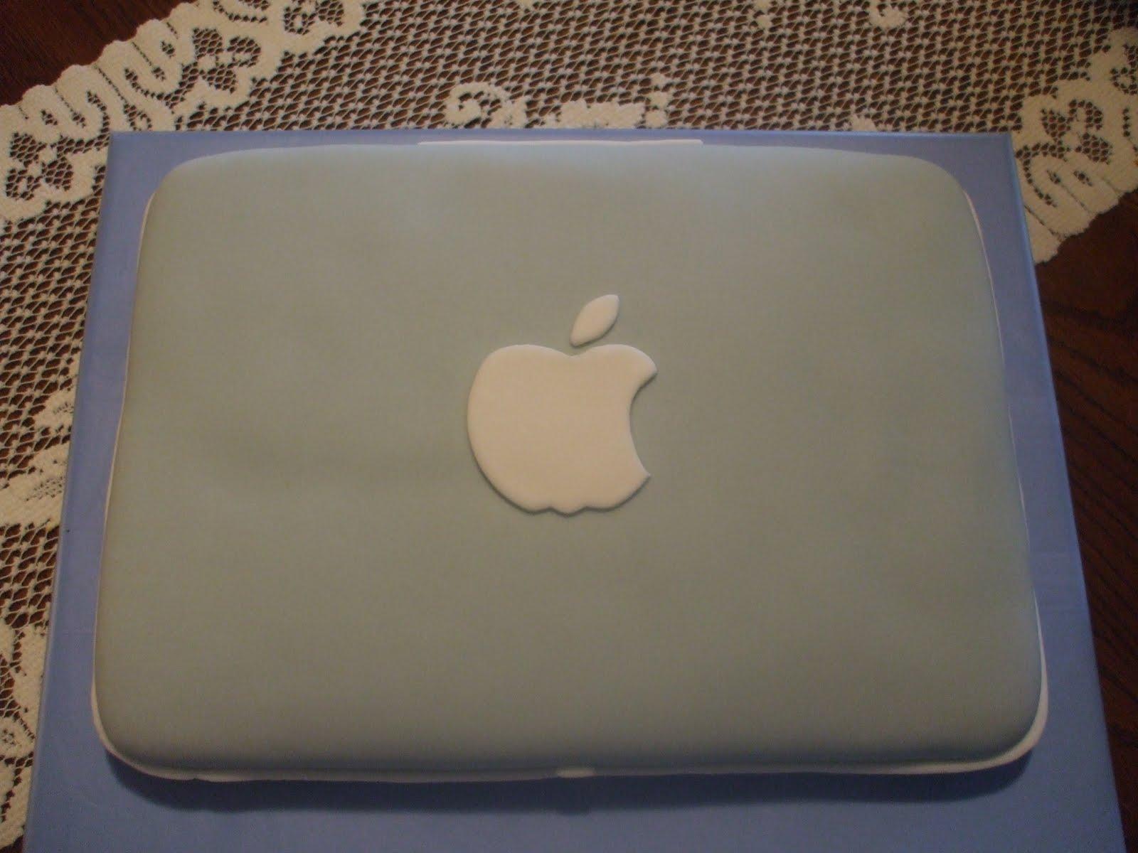 Cake Laptop Designs : The Simple Cake: Apple Laptop/Computer Cake